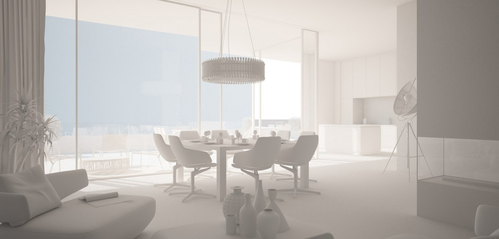 Create a white render image with cinema4d and vray