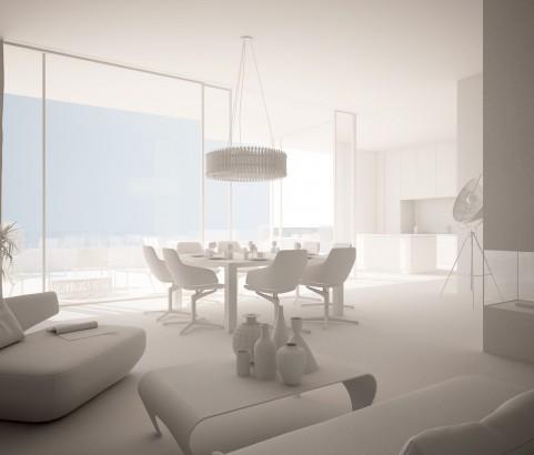 White render image