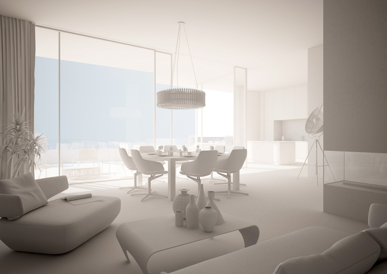 Create a white rendered image with cinema4d and vray (Tutorial)