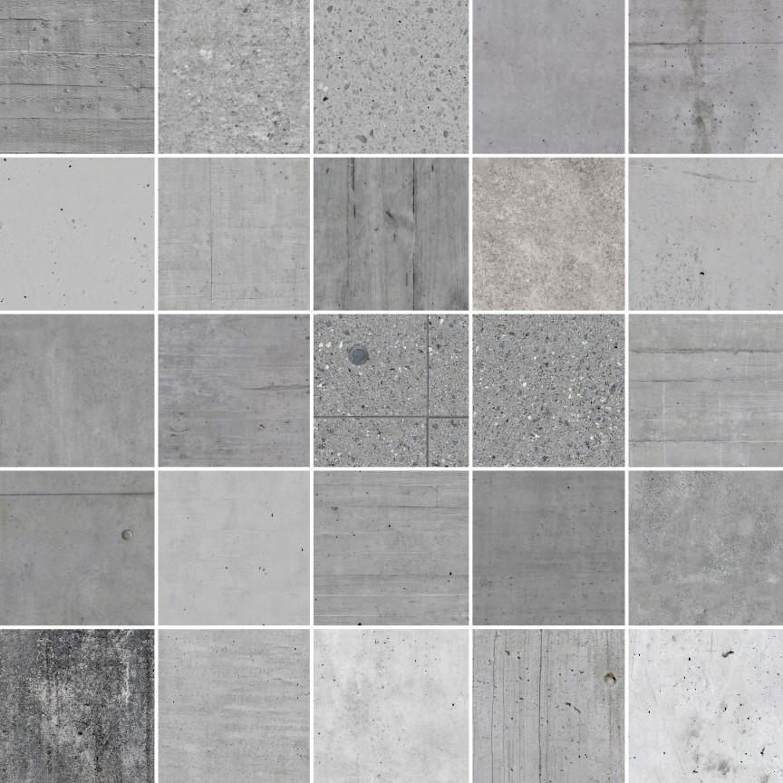25 Seamless Concrete Textures (Ready for C4D, vray, vrayforc4d)