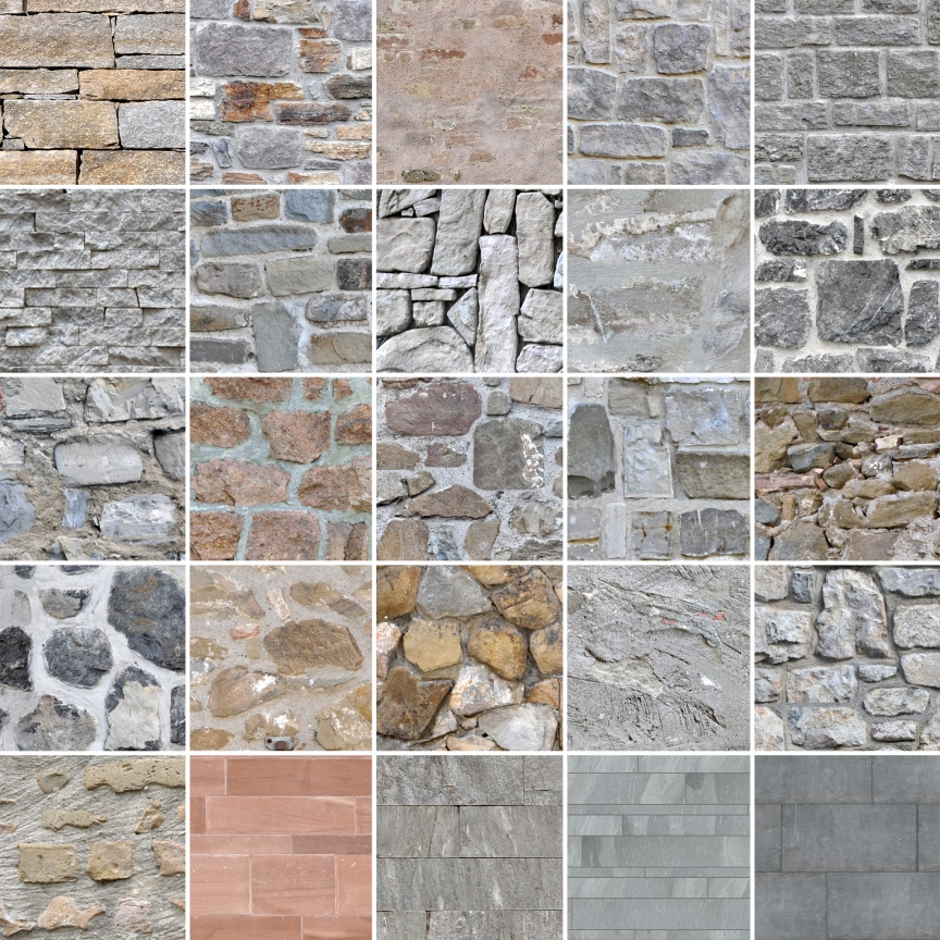 Stone Wall Textures, seamless and tileable (Ready for C4D ...